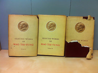 Collection Job Lot of Selected Works of Mao Tse-Tung Books, Volume 1-3