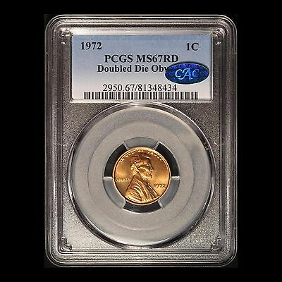 1972 Double Die Obverse 1c Lincoln Cent CAC & PCGS MS 67 RD
