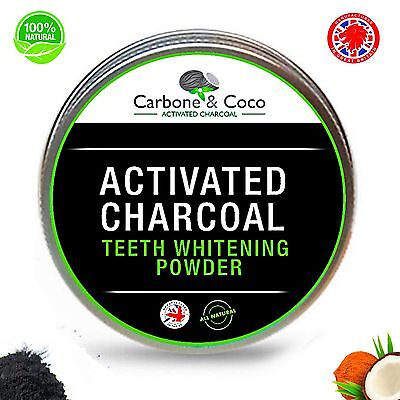 Carbone & Coco™ Activated Charcoal Teeth Whitening Powder For A Whiter Smile