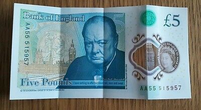 £5 Five Pound Note - Aa55
