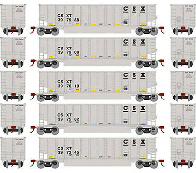 Athearn N Scale Bethgon Coalporter Gondola Car/Load CSX (Gray/Black) 5Pk #1