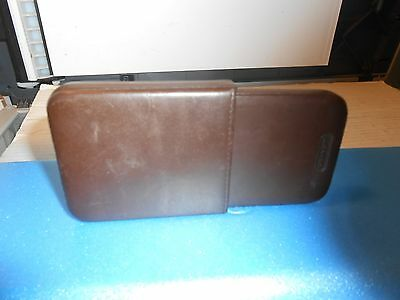 COACH Brown Leather Business Card / Credit Card ID Holder Wallet