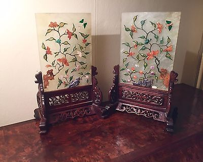 Pair of Antique 19th Century Chinese Scholars' Table Screens