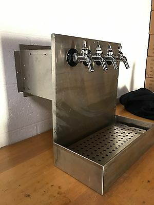 Draft Beer Shadow Box - 4 Faucet Stainless Steel