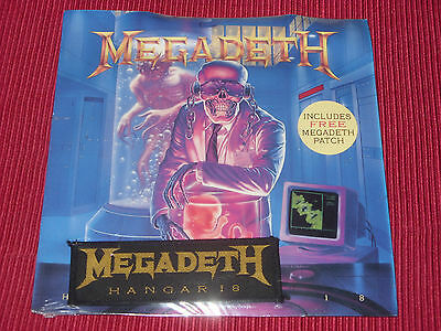"""Megadeth – Hangar 18 7"""" SEALED WITH PATCH"""