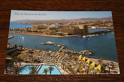 Eilat, Air View the Marina on the Red Sea Israel Postcard