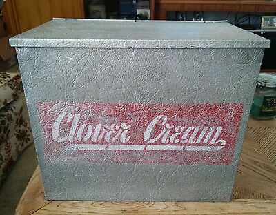 Vtg CLOVER CREAM MILK BOX 1960'S WISCONSIN