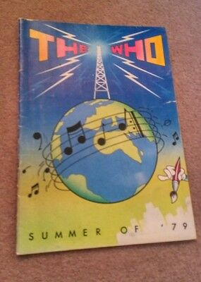 The Who Summer of 79 program