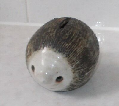 Briglin Hedgehog Studio Pottery Dog Money Box
