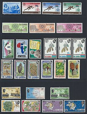 Gambia Ten Sets Unmounted Mint 1964-74 Period