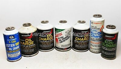 7 cans R-134a Oil Charge - PAG & Ester - 4x12oz 1x6oz 1x4oz 1x3oz (61oz total)