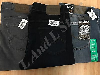 Urban Star Jeans Stretch Relaxed Fit Straight Leg Men's New