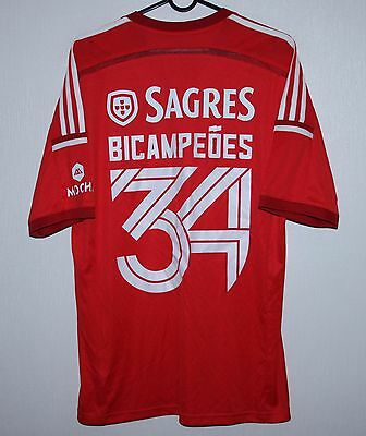 Benfica Portugal home special shirt 14/15 #34 Bicampeoes Adidas BNWT Size M