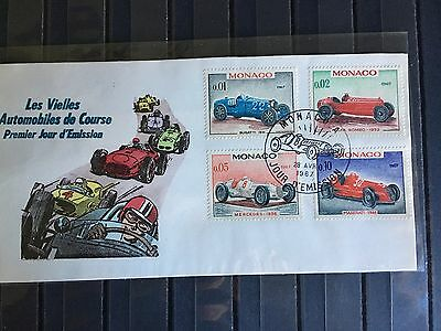 French Colonies Monaco early cacheted FDC - race cars