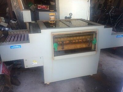 Double-sided Chemical / Ferric Chloride Etching Machine SERFILCO 7HP Brass/Steel
