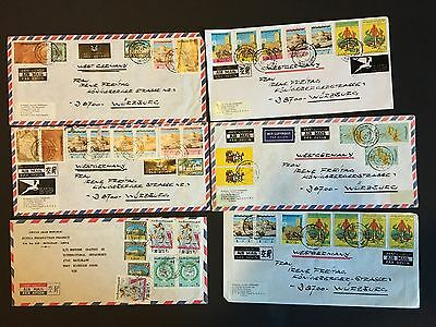 MIDDLE EAST Libya Libia selection of commercial covers - nice stamps