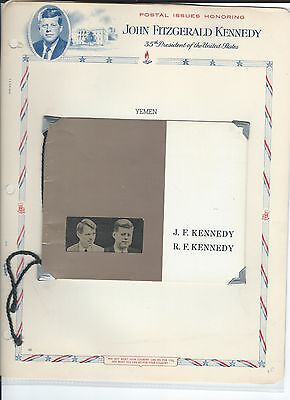 Middle East Yemen mnh stamps with booklet & gold stamp JFK - Kennedy - 3 scans