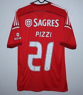 Benfica Portugal home shirt 14/15 #21 Pizzi Adidas BNWT Size S