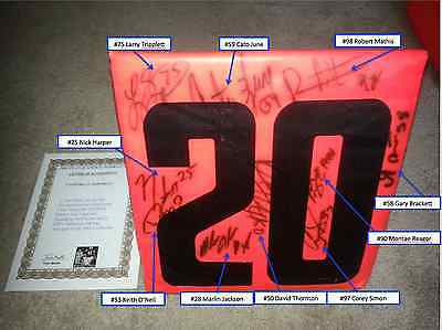 Indianapolis Colts 2006 Signed RCA Dome Game Used Football Marker COA P. Manning