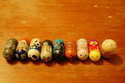 Mighty Beanz 2010 Moose Games, Assorted Lot of 9, Collector's Item