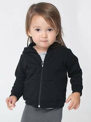 American Apparel Infant California Cotton Zip Hoodie Toddler Kids New 3-6 6-12