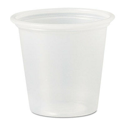 SOLO Polystyrene Portion Cups 1 1/4 oz Translucent 2500/Carton P125N