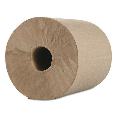 "Morcon Paper Hardwound Roll Towels Kraft 1-Ply 600 ft 7.8"" Dia 12/Carton R12600"
