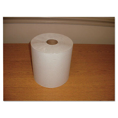 "Morcon Paper Hardwound Roll Towels Paper White 7 4/5"" x 600ft 12/Carton W12600"