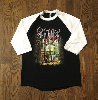 Styx T Shirt The Grand Illusion Tour 1977 Large Throwback Classic Rock Journey