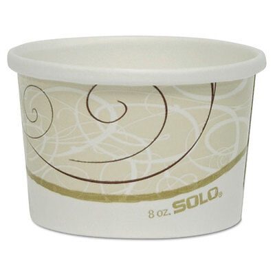 SOLO Flexstyle Double Poly Paper Containers 8 oz Symphony Design 25/Pack