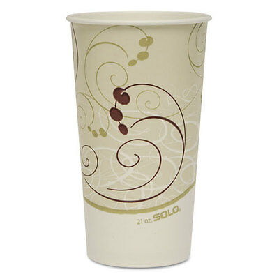 SOLO Paper Cold Cups 21 oz. Symphony Design 50/Bag 20/Carton RSP21PSYM