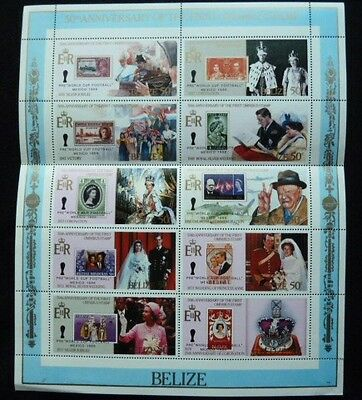 Sheet of 10 Unused 50th Anniversary of the First Omnibus Stamps