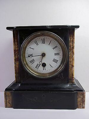 Victorian French mantel mantle Clock Slate and Marble