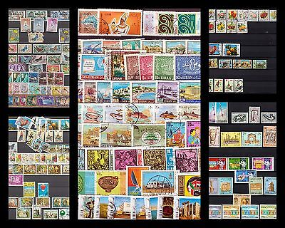 Lebanon 1964-1980, Airmail collection lot used, most sets complete last scan MNH