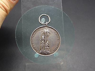 Silbermedaille 1897 Army Temperance Medal. India WATCH AND BE SOBER GB (5217)