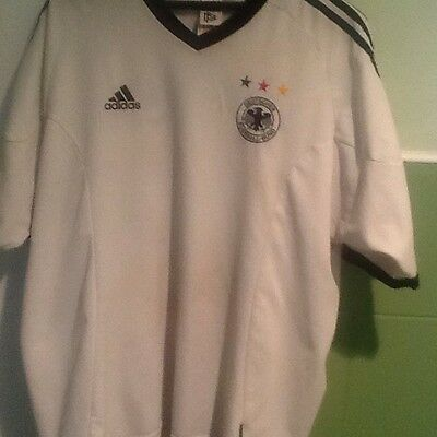 Retro Vintage Germany Football Top 2002 World Cup Shirt Adidas Size Large