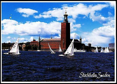 Postcard - Stockhome Sweden  - Braden With The City Hall Behind  - Postally Used