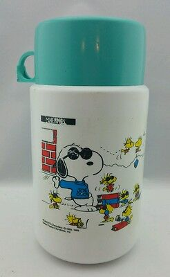 Vntg Collectible Peanuts Characters Snoopy 1958, 1965 plastic Thermos
