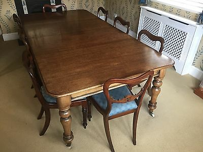 Antique William 1V Fine set of 8 chairs and matching Dining table