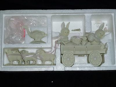 NEW ~ Dept 56 Snowbunnies Easter MARKET DELIVERING EGGS Sheep Geese #26281 NIB