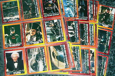 1992 batman returns trading card set with stickers