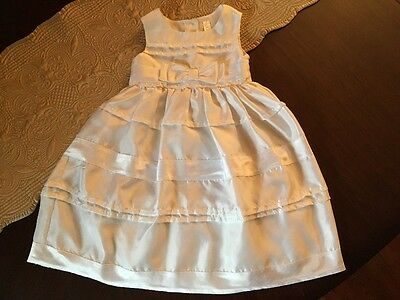 Cherokee Girls White Easter Party Dress Toddler Size 3T