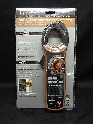 Southwire 1000 AC/DC True RMS Clamp Meter 22070T *BRAND NEW*