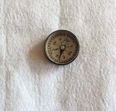 Vintage Compass Made in Germany 1 3/8 Inches Diameter Brass Case