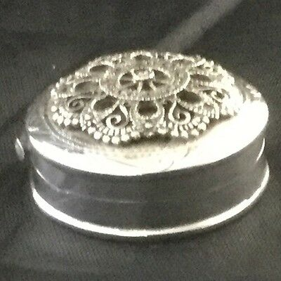 Sterling / .925 Marcasite Pill Box