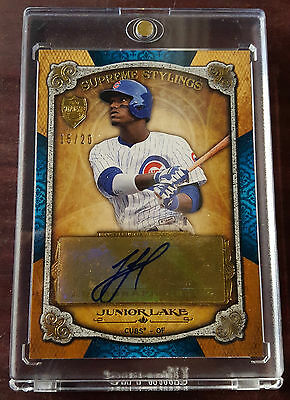 2013 - Topps Supreme - #SS-JL - Junior Lake - Chicago Cubs - Signed #15/20