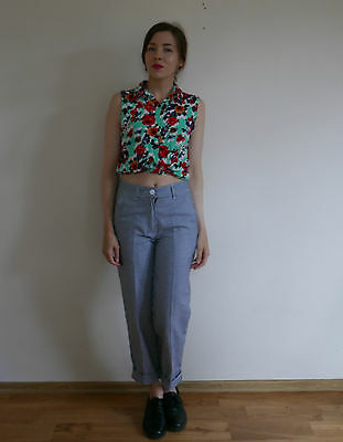 Vintage 1980s 1990s check houndstooth tapered golf trousers 8
