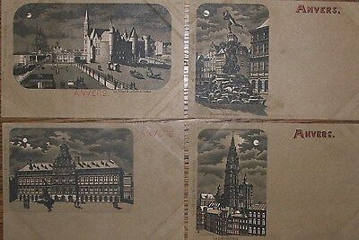 1900 - Lot De 4 Cpa - Anvers - Belgique - Monuments