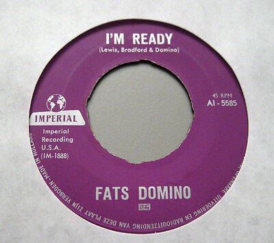"Nice Price: Fats Domino - I'm Ready / Margie  IMPERIAL 7"" Single"