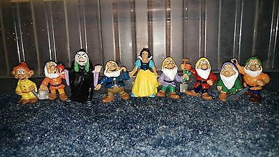 Disney Snow White and the Seven Dwarfs Rare 1982 Figures by Bully